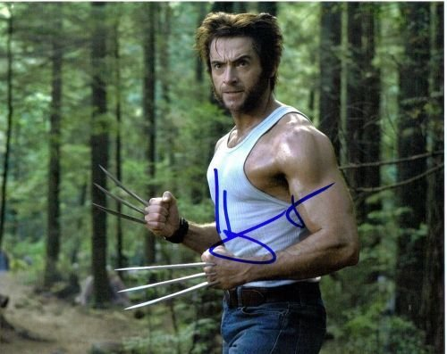 23G: Huge Jackman autographed photo