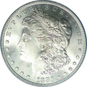 23: 1883 BU Morgan Silver Dollar MS 60-63