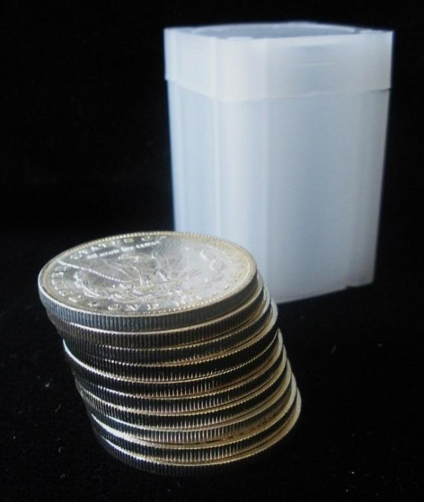 26: Roll of 20 Morgan Silver Dollars- 1878-1921 g-xf