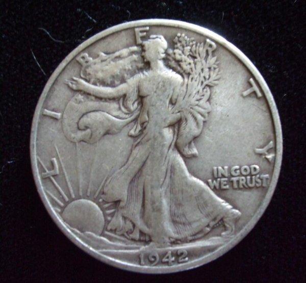 22S: Walking Liberty 1942-D