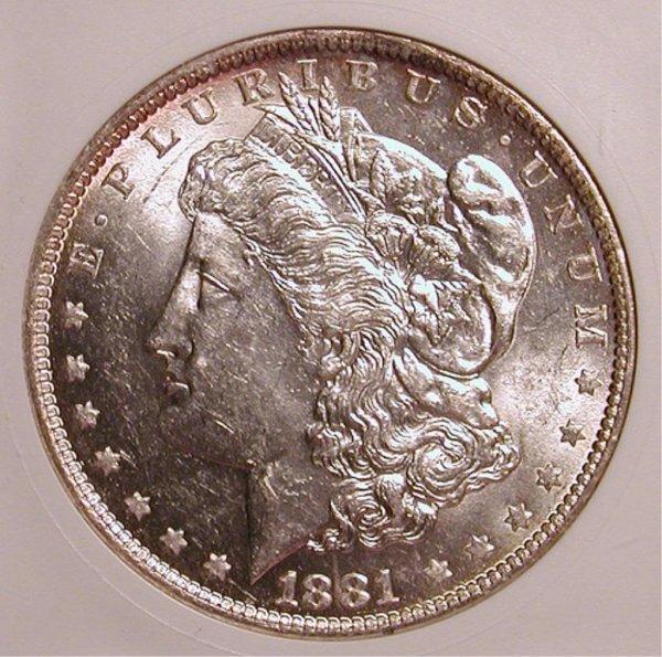 4M: 1881-O Morgan Silver Dollar - Nice BU