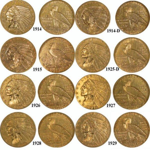 92: Gold $ 2.5 Dollar Indian