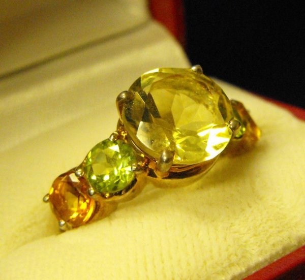 5: Sterling Mounted Citrine Gemstone Ring