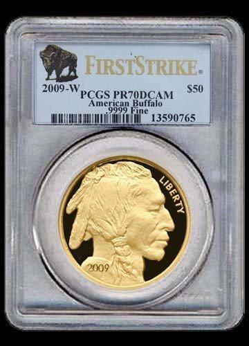18: 2009 1 oz Gold Buffalo Coin - **MS-70** PCGS (First