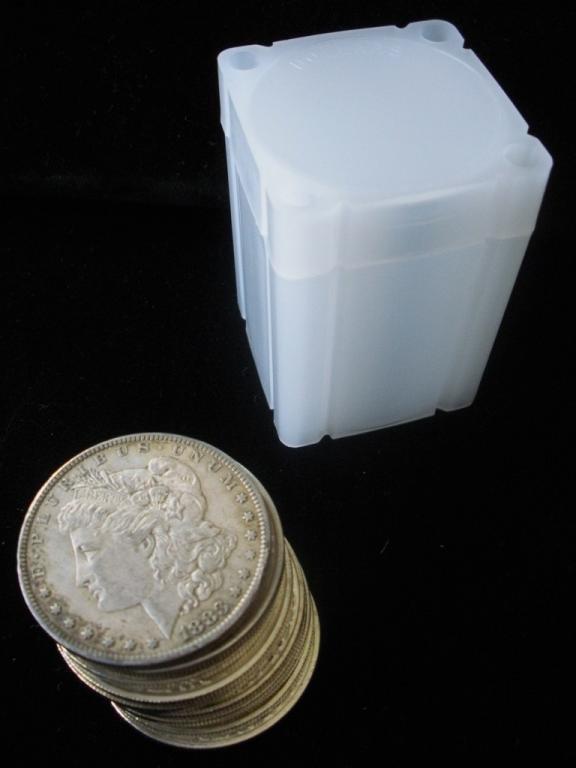 2B: Lot of 10 Morgan Silver Dollars-1921