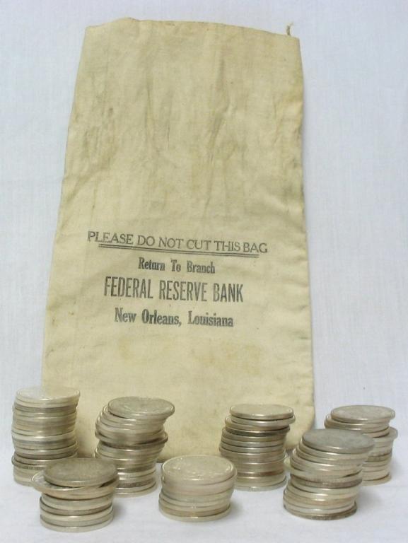 3C: Roll of 20 Morgan Silver Dollars- 1878-1921 g-xf