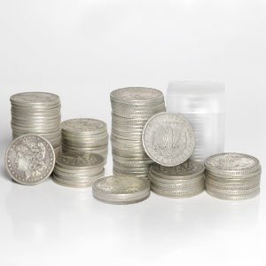 4C: Roll of 20 Morgan Silver Dollars- 1878-1921 g-xf