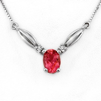 3W: Necklace 1.30 ctw Diamond Pink Tourmae