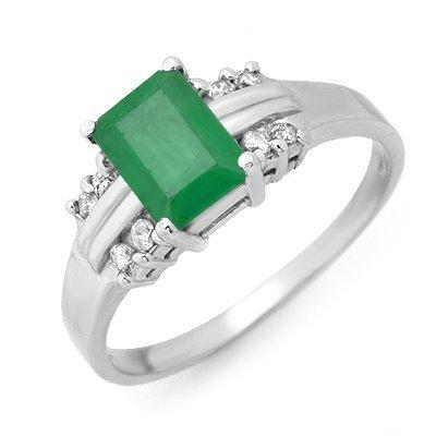 4W: 1.16 ctw Emerald Diamond Ring
