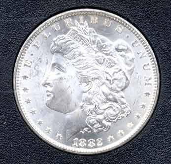 27H: 1882-CC Morgan Silver Dollar - In GSA Holder