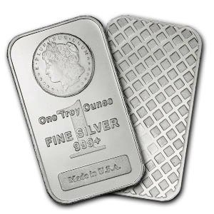 53H: Lot of 10 MORGAN DESIGN Silver Bullion Bars