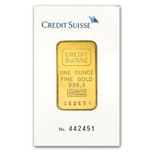 4: (1 oz) .9999+ Fine Gold Bar/Credit Suisse In Assa
