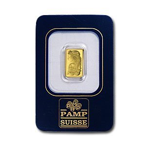 5: (1 gm) .999+ Fine Gold Bar - Pamp Suisse (With As)