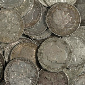 9: Lot of 10 -1892 or 1893 Columbian Expo Halves