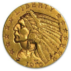 29: $2.5 US Gold Indian Coin