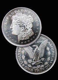 124P: 50 Private Mint Morgan SILVER Round! Bullion!