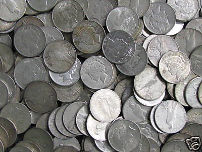 4B: Lot of  $5 Face Value 90% Silver Coinage Mixed Peac