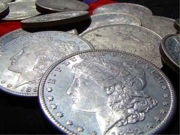 3: Lot of 10 Morgan Silver Dollars