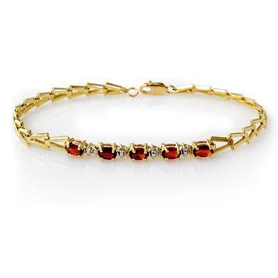 1W: 1.50 ctw Garnet Bracelet Yellow Gold Jewelry