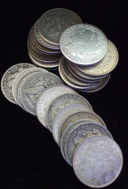 92: (20) Morgan Silver Dollars from LARGE Cache