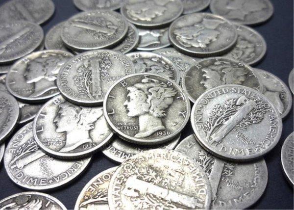 2: Lot of 100 Mercury Dimes