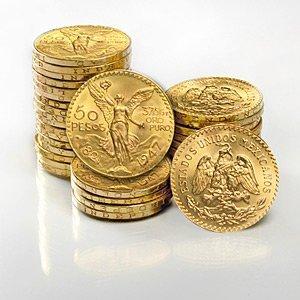 1M: Mexico 50 Peso Gold Coins (AU/BU)