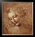 3C: Female head (La Scapigliata), c. 1508 Framed Art Pr