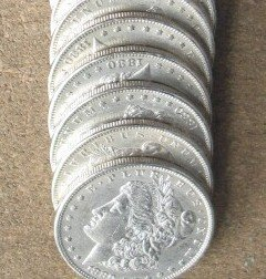 1Q: Lot of 10 1878-1921 Mixed Date Silver Dollars