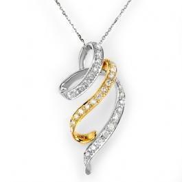 4J: Natural 1.25 ctw Diamond Necklace 14K Multi tone Go