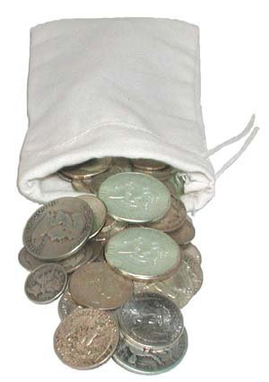 162: Lot of $ 5 Face Value 90% Silver US Coins-