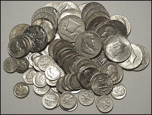 1Z: Lot of $ 3 Face Value Silver Coins- 90%