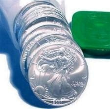 1A: Roll of 20 1oz. Silver American Eagles