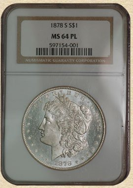 2F: 1878-S Morgan $ MS64 NGC PL