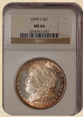 4F: 1878-S Morgan $ MS66 NGC