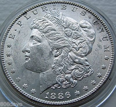 2: 1886 Morgan BU Silver Dollar