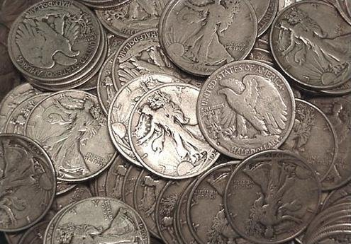 14: Lot of 5 Walking Liberty Halves
