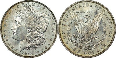 26: 1886 Morgan BU Silver Dollar
