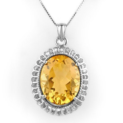 16W: Fine 12.00 ctw Citrine Ladies Necklace