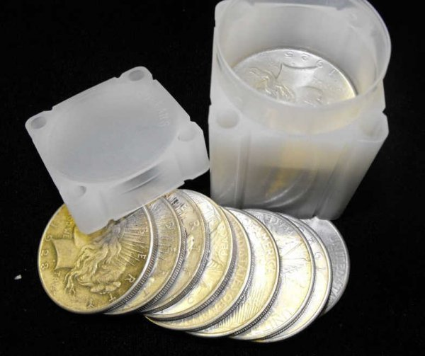 7: Lot of 20 Peace Silver Dollars- 90% Silver