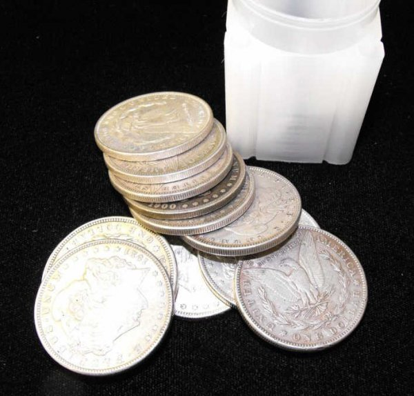 1: Lot of 20 Morgan Silver Dollars