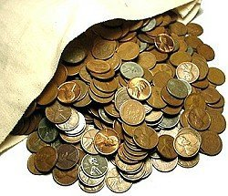 12: Lot of 100 Various Date Wheat Pennies