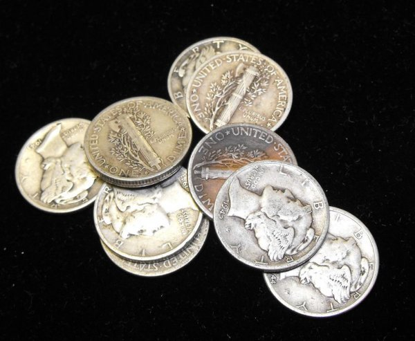 4: Lot of 10 Mercury Dimes-