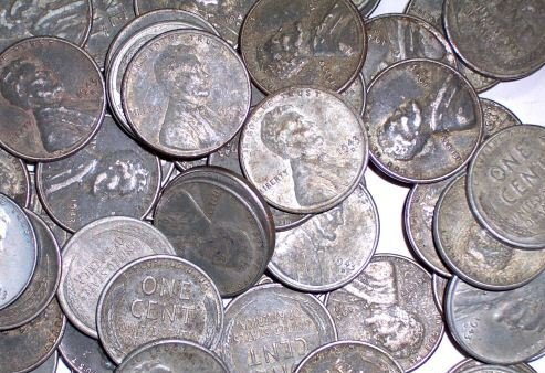 8: Lot of 200 Steel War Pennies-