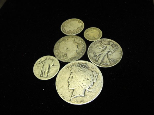 7: Lot of US Type Coinage-6 Coins-