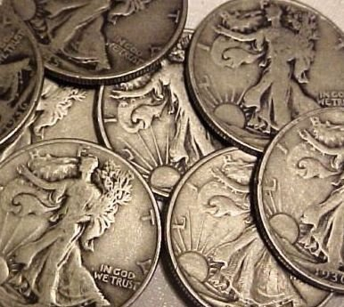 14: Lot of 10 Walking Liberty Halves