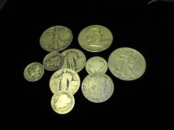 15: Lot of  10 US Type Coins-