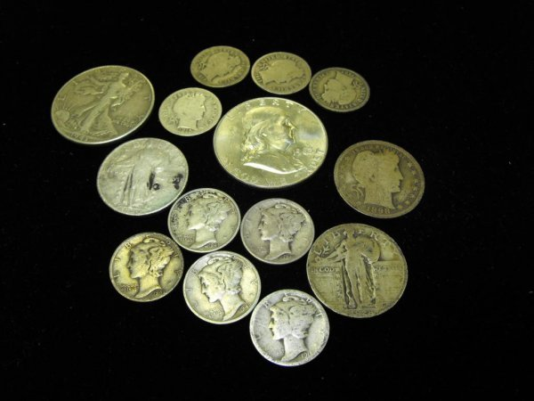 19: Lot of 14 Us Type Coins
