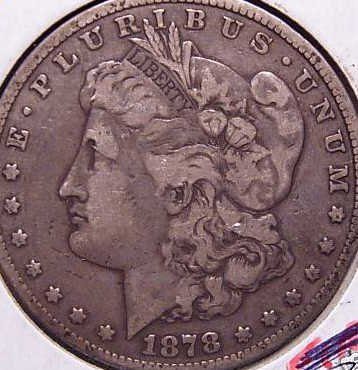 20: 1878 First Year Circulated Morgan Silver Dollar