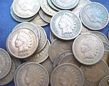 3: Lot of 100 Indian Head Pennies-