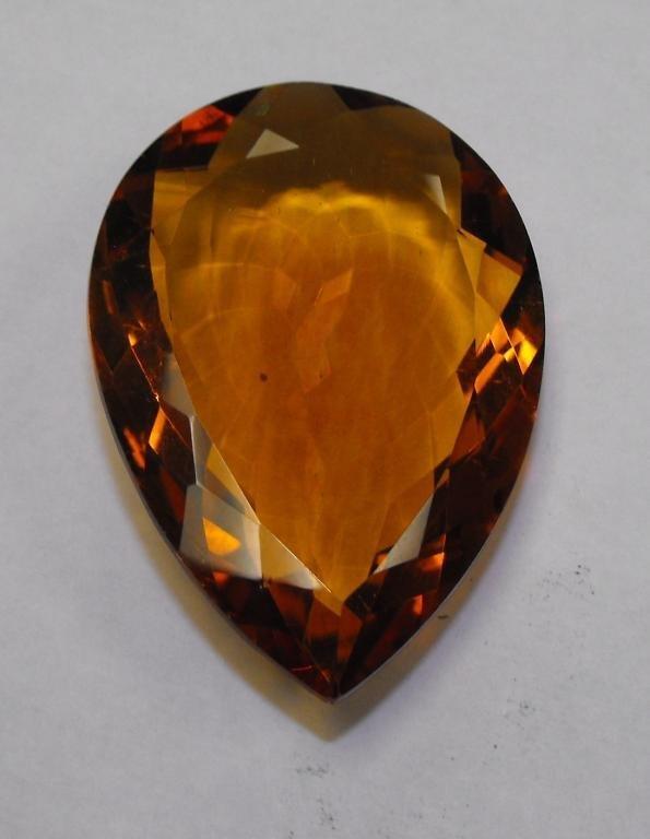 11K: Huge Pear Shape 97.57 ct. Orange Citrine